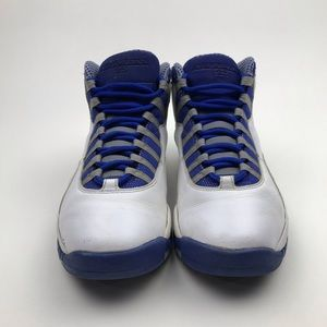 Nike Shoes - Nike Air Jordan X 10 Retro TXT WHITE BLUE Sz 9.5